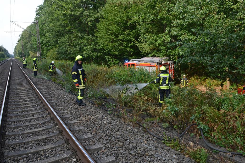 Bahnstrecke Zwischen Haltern Und Recklinghausen Nach Erneutem Brand