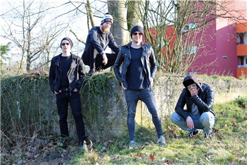 "Die Band ""Reverse"" beim Foto-Shooting in Barkenberg."
