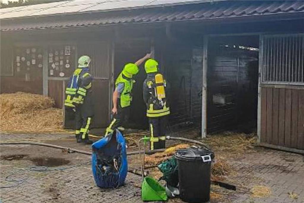 Feuer In Pferdestall Schnell Gelöscht