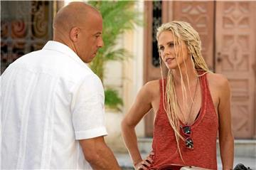 Dom (Vin Diesel) trifft Cypher (Charlize Theron).