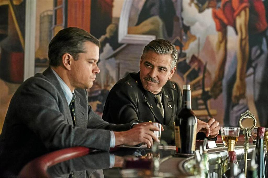 "Matt Damon (l.) und George Clooney in ""The Monuments Men"" (Filmstart: 20. Februar)."